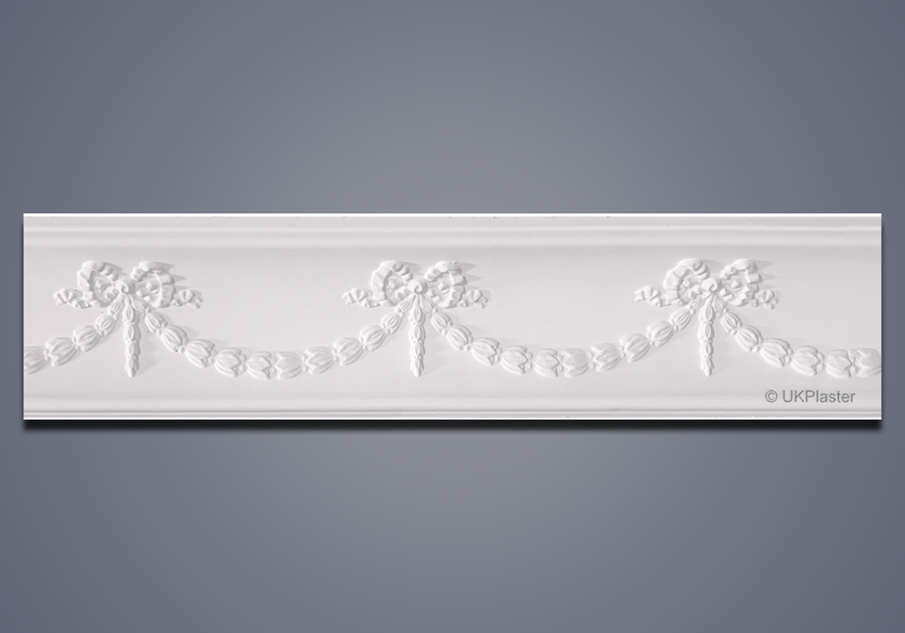 Plaster Cornice Swag and Bow CN145-32
